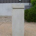 12″ Square Concrete Bollard Natural Finish