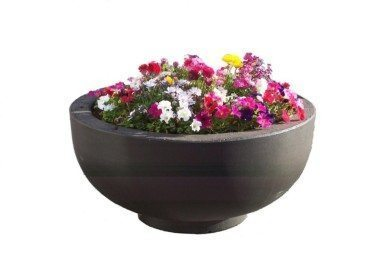 3 foot concrete bowl planter
