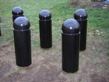 "12"" Round Concrete Bollard with 6.5"" Dome Top"