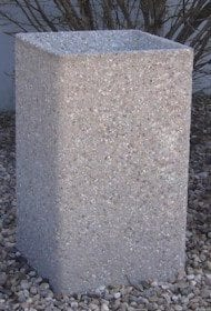 24 Inch Tall Square Concrete Cigarette Urn