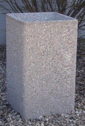 24 Inch Tall Square Concrete Cigarette Urn