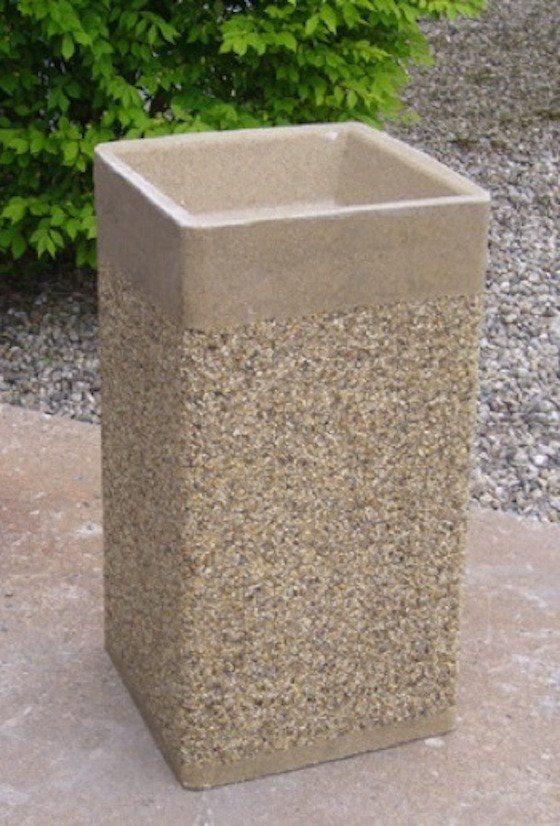 24 Inch Square Stone Aggregate Ashtray