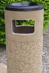 Stone Ash & Trash Receptacles