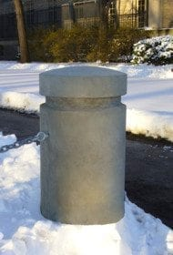 18 Inch Round Concrete Bollard With Reveal