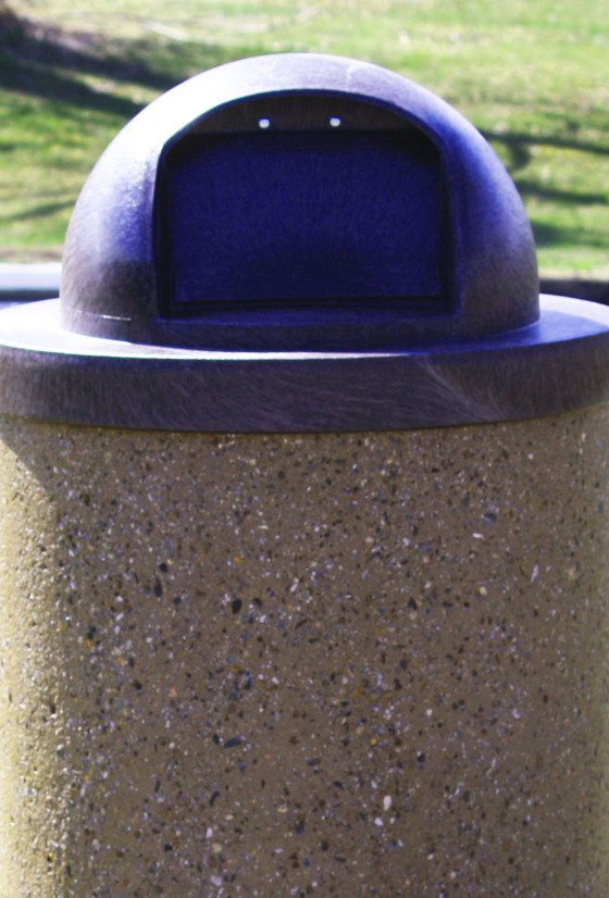 35 Gallon Round Concrete Waste Receptacle