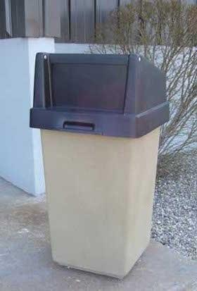 35 Gallon Square Concrete Waste Receptacle