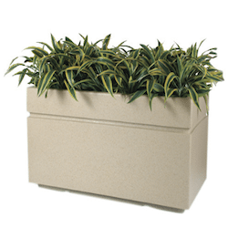 Avenue Rectangular Fiberglass Planter