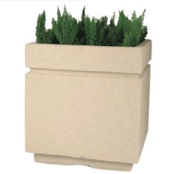 Avenue Square Fiberglass Planter