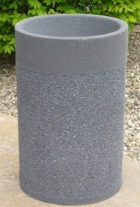 24 Inch Round Stone Aggregate Ashtray