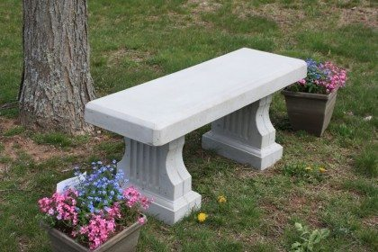 Concrete Coliseum Bench with Straight Seat