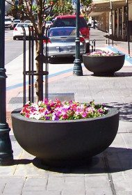 4 feet Round Concrete Bowl Planter