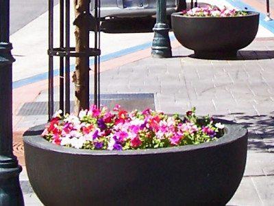 4 feet Round Concrete Bowl Planter
