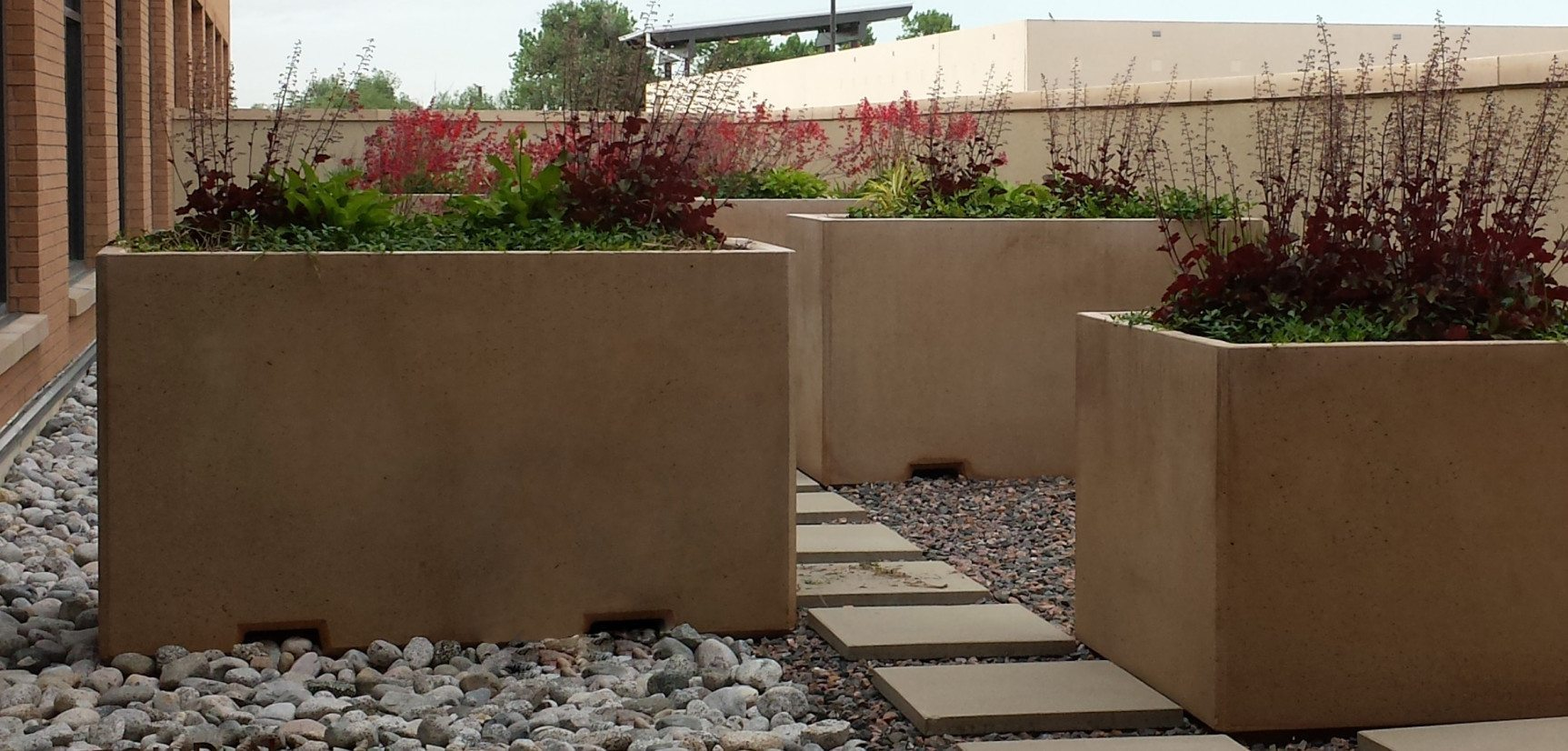 6ft Rectangular Concrete Planter Site Furnishings