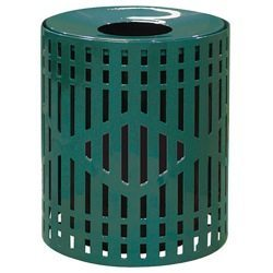 32 Gallon Metal Diamond Trash Receptacle
