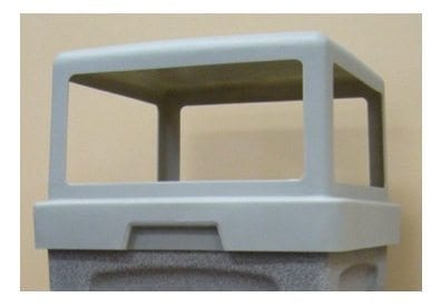 Square Plastic 4 Way Lid 1