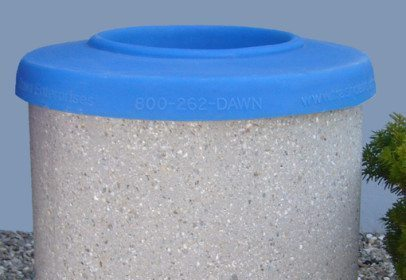 Round Plastic Flat Top For 55 Gallon Receptacle 1
