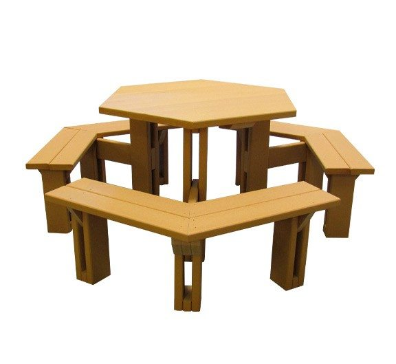 6 Sided Recycled Plastic Tables