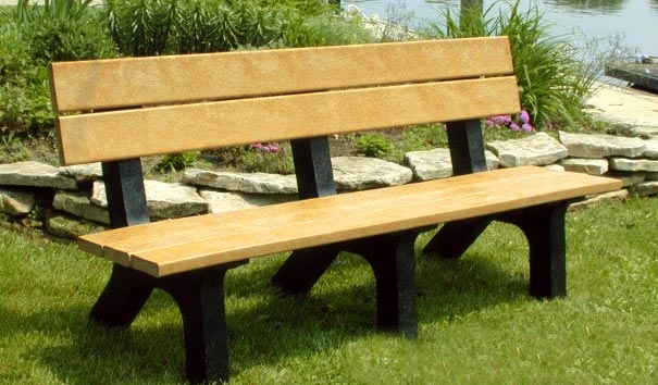 Recycled Plastic Rock Island Bench