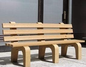 Recycled Plastic Traditional Bench