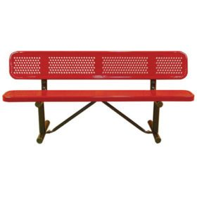Standard Metal Bench With Back