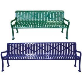 Diamond Metal Bench