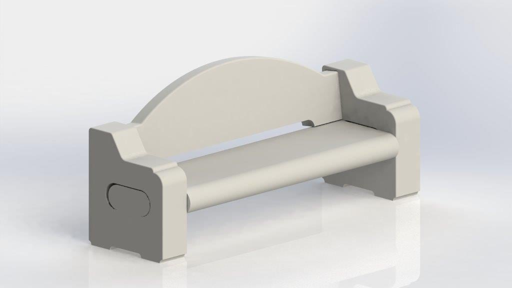 Concrete Bench from Dawn Enterprises