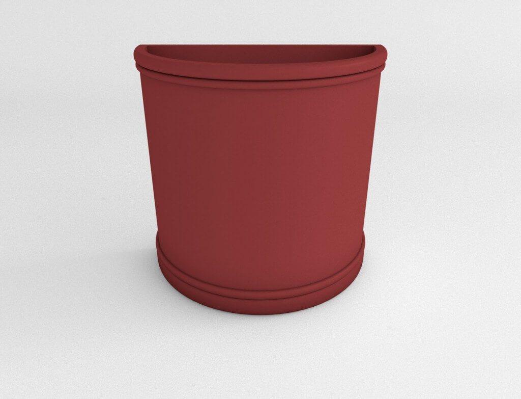 Half Round Plastic Planter